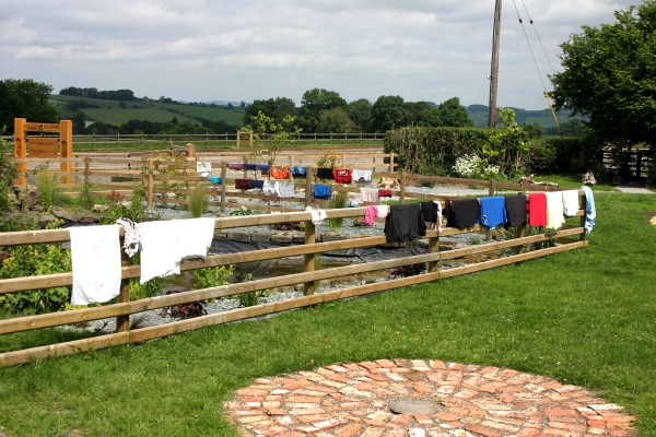 Our washing hung out to dry at Kerry Farm