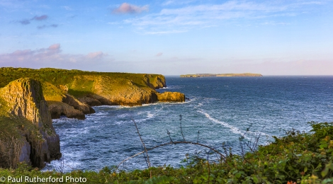 Caldey Island from Skrinkle Haven