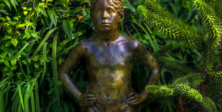 A Petersen-cast bronze lifesize figure of a boy