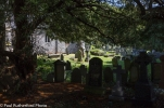 St Brynach's church graveyard at Nevern in Pembrokeshire.
