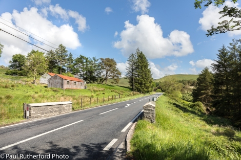 the A44 main road through the mountains of mid-Wales